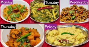 Monday To Friday  Summer Subzi   Recipes For Lunch /Dinner | Indian Summer Recipe Ideas