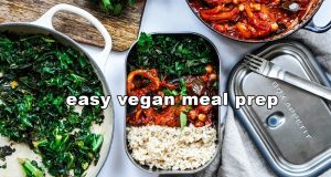 EASY VEGAN MEAL PREP IDEAS 4 days with measurements