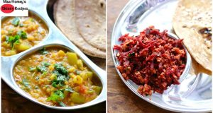 2 Healthy Vegetarian Side Dish For Chapathi, Roti, & Rice | Skinny Recipes