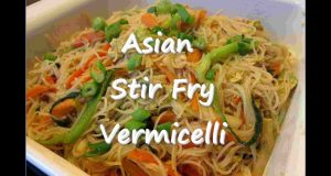 Easy Asian Stir Fry Vegetable VERMICELLI Noodle Recipe