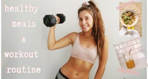 WHAT I EAT IN A DAY | workout routine & vegetarian meals