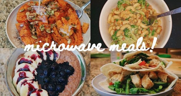 A week of vegan food using only a microwave (w/ prices!)