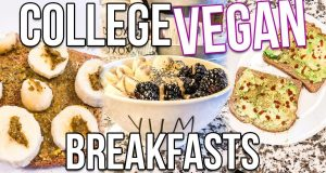 EASY COLLEGE VEGAN BREAKFASTS | Natalie Barbu