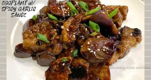 Eggplant with spicy garlic sauce | Vegan & Vegetarian Eggplant Recipe | Crispy Sautéed Eggplant